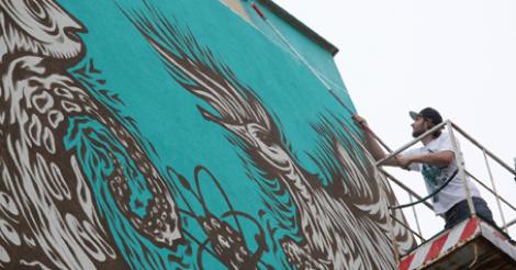 Zobacz nowy mural z nowolipek for Mural ursynow