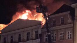 Pożar kamienicy w Świdnicy