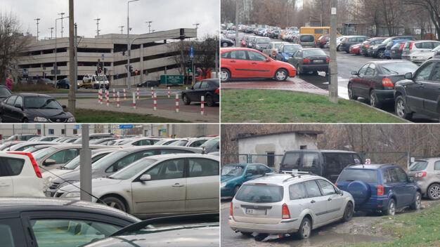 Młociny jak wielki parking, sypią się mandaty. Będą parkomaty?