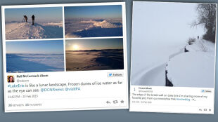 """Sroga zima """"skuła"""" lodem Amerykę. Jezioro Erie zamarzło całkowicie"""