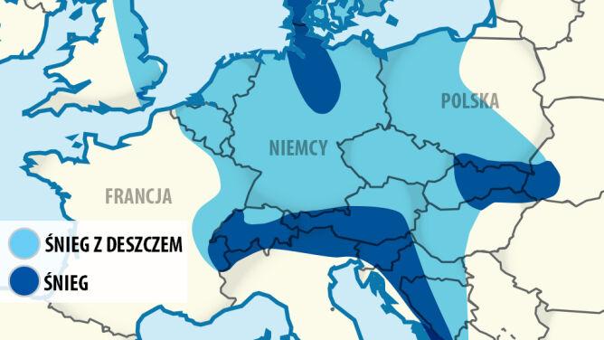 Załamanie pogody w Europie. <br />Mróz i pierzyny śniegu w kilku krajach