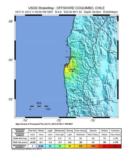 Ziemia zatrzęsła się z siłą 6,6 w skali Richtera