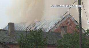 Pożar stodoły w Jankowie Przygodzkim