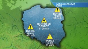 Warunki drogowe w poniedziałek 26.07